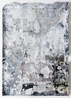 Zavier Ellis 'Freiheit III', 2021 Acrylic, emulsion, gloss, spray paint, collage on paper 59.4x42cm