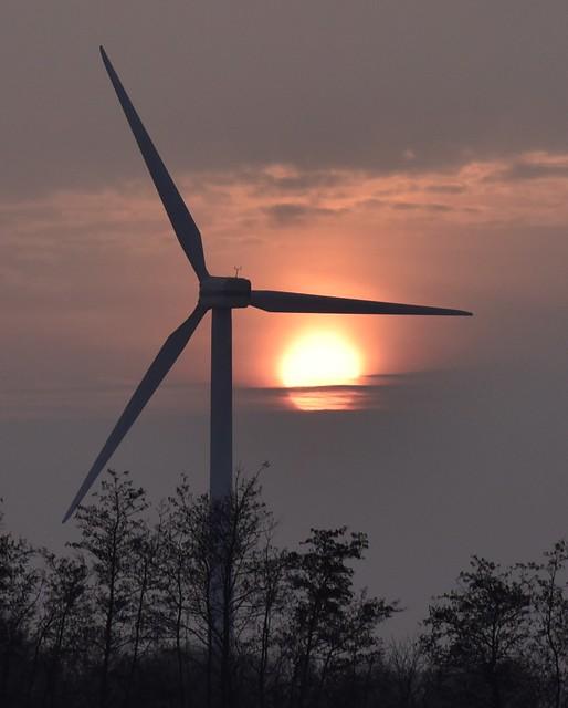 Windenergie ist letztlich Sonnenenergie; Oldersbek, Nordfriesland (1)