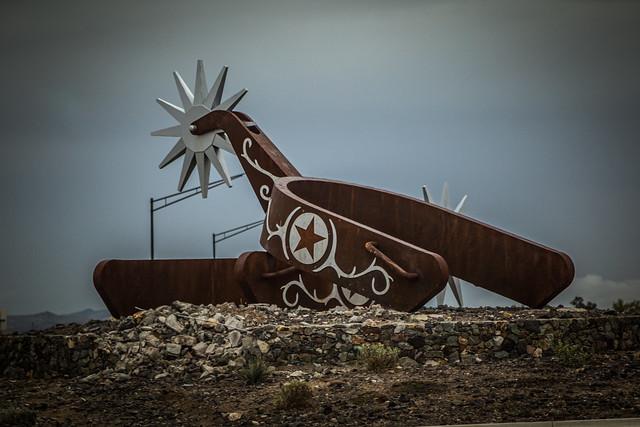 Giant Cowboy Spurs