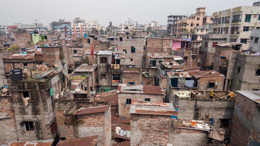 The Bihari refugee camp in Dhaka, Bangladesh