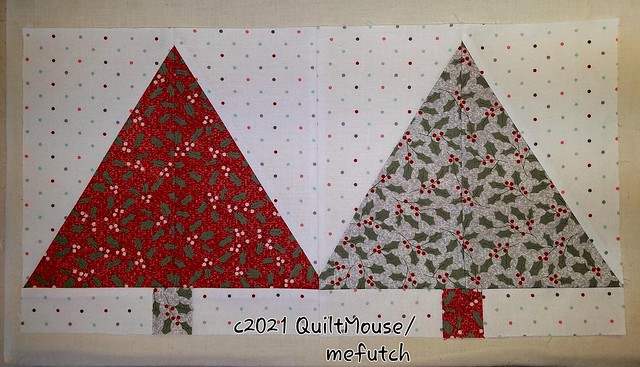 2021-March - Fabric Cafe Sample Tops - Christmas Forest Pattern
