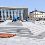 The new 'plaza' coming along at the UCLan construction site in Preston