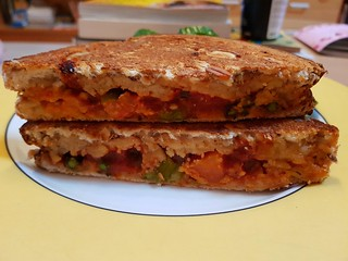 Cheese and Vegetable Ragu Toastie