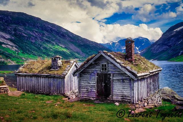 un lac d'altitude en Norvège