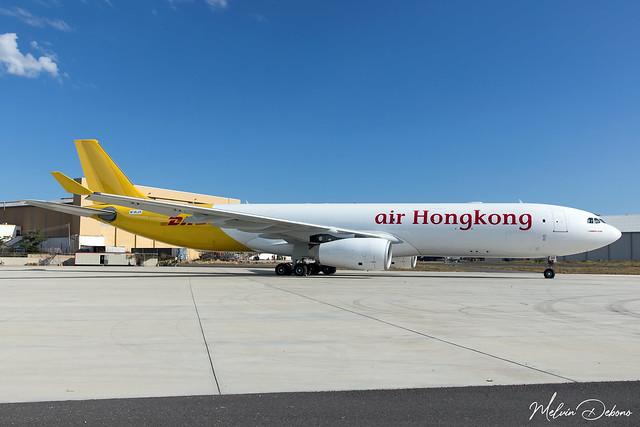 Air Hong Kong Airbus A330-343P2F  |  M-BLGR  |  LMML