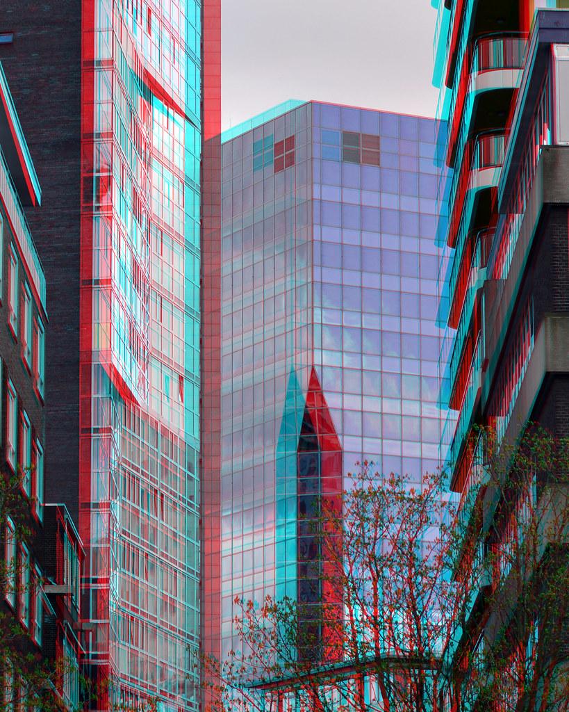 Gebouw De Maas vanaf Wijnhaven Rotterdam 3D