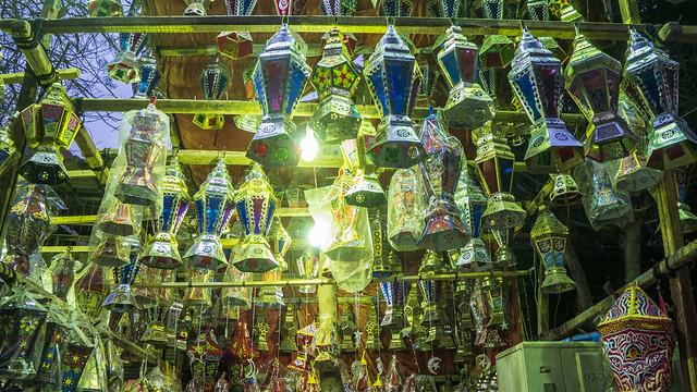 Ramadan lanterns and supplies markets of Cairo