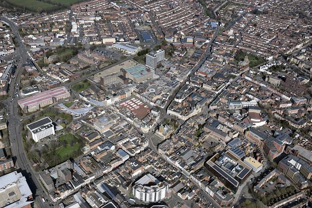 Northampton aerial image - Northants UK
