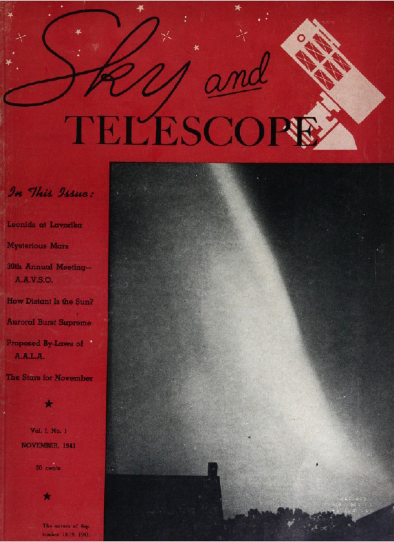 Sky and Telescope 1941-01 Cover