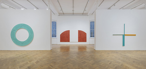 'Robert Mangold: A Survey 1981-2008', installed at Pace Gallery. Photo: Damian Griffiths.