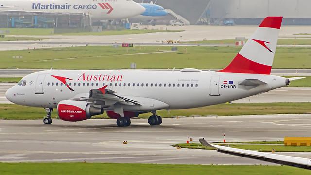 Austrian Airlines Airbus A319 OE-LDB Amsterdam Schiphol (AMS/EHAM)