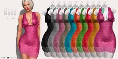 Glitter Martina Fitmesh Lace Dress Colors AD