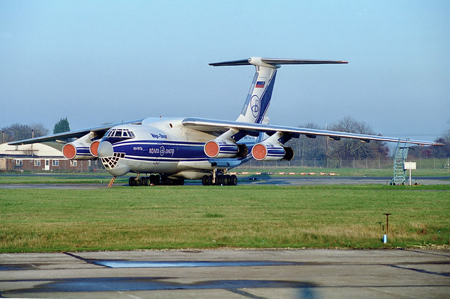 RA-76758 IIyushin IL-76TD Volga-Dnepr Stansted Jan 1996