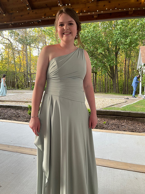 Granddaughter Ashley one of the Bridesmaids