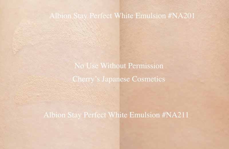 albion stay perfect White swatch
