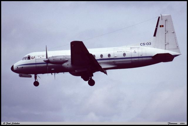 HS748 2A CS-03 1743-224 15Wing 21Esc Florennes juin 1991