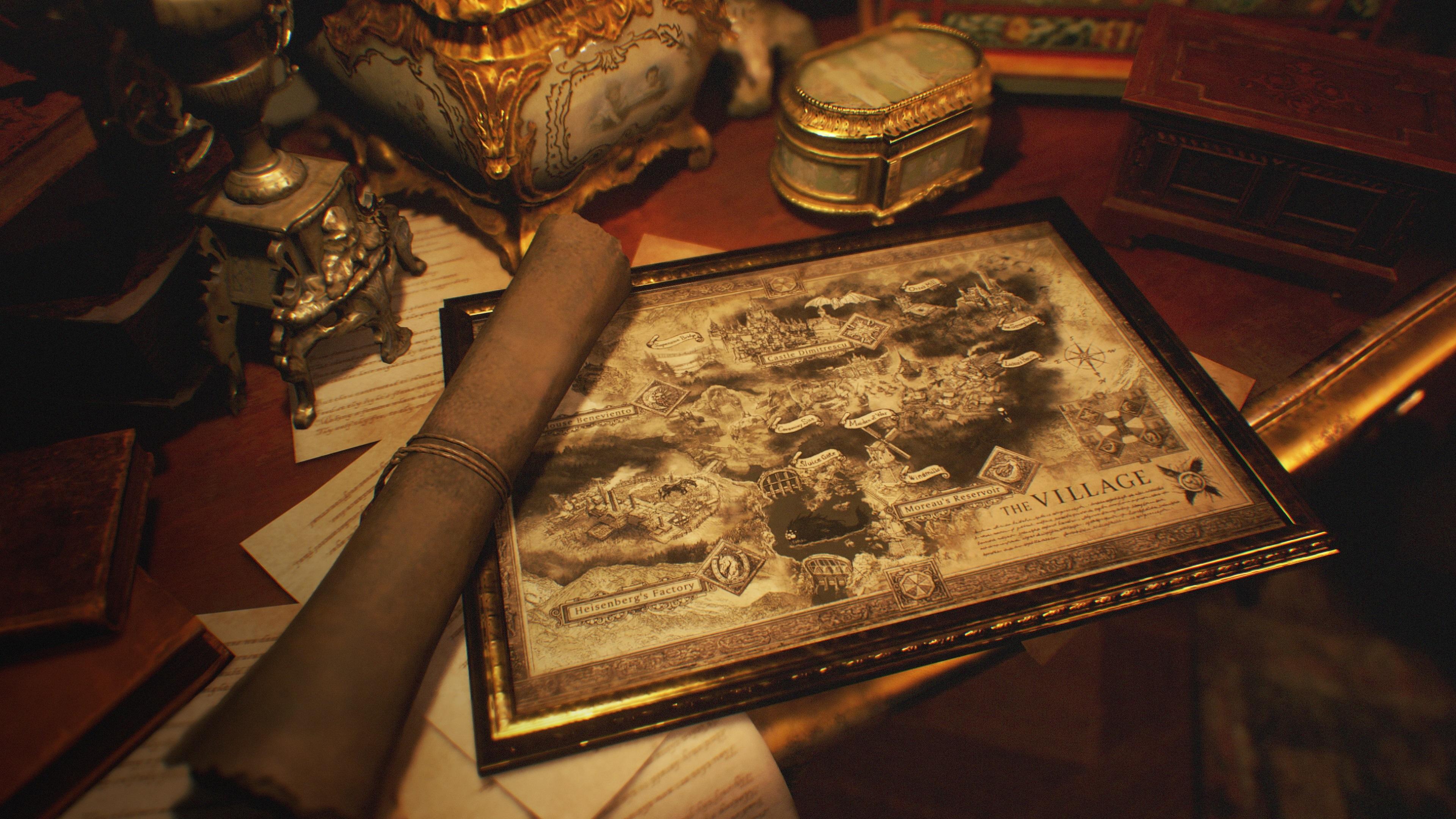 Resident Evil Village haritası