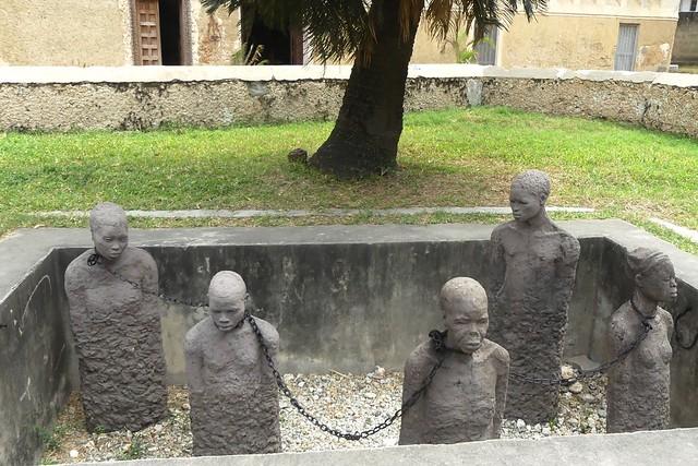 Memorial of the former largest slave market, Stone Town Zanzibar, Tanzania