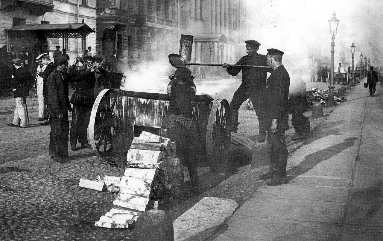 1900-е. Дорожные работы на Английской набережной