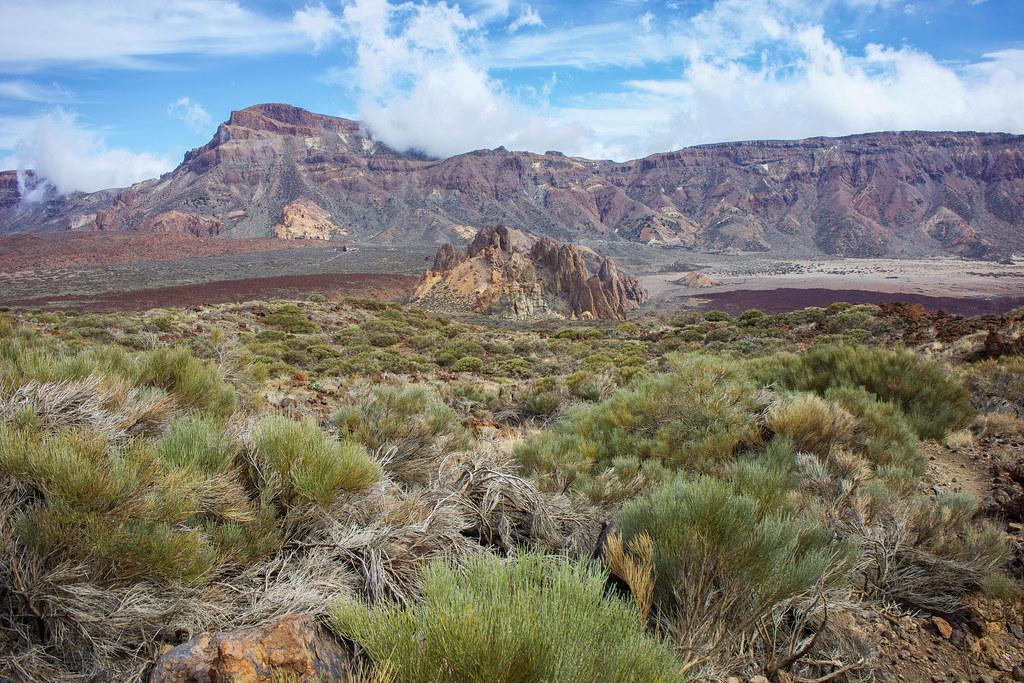 Montaña Guajara desde el sendero de Regatones Negros