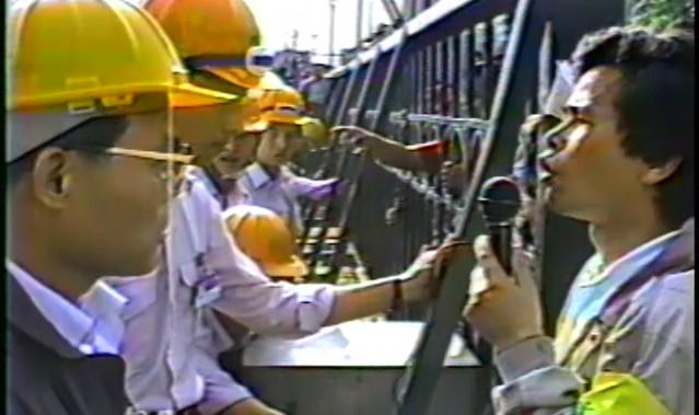 1987年5月15至25日,遠東化纖產業工會罷工。(《遠東化纖罷工事件》劇照,圖片來源:台灣國際紀錄片影展)