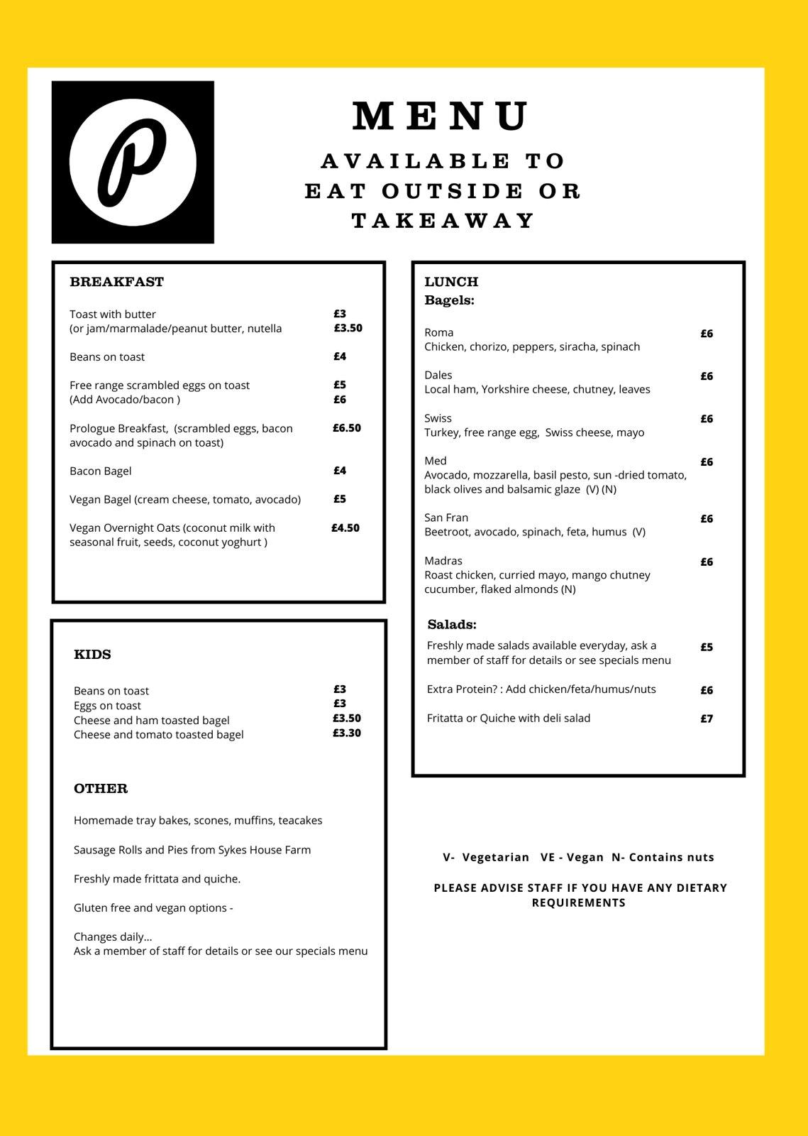 website spring menu