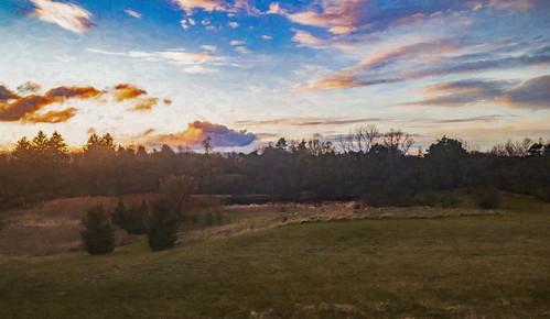 iphone sunset sky phot lakeorion michigan usa