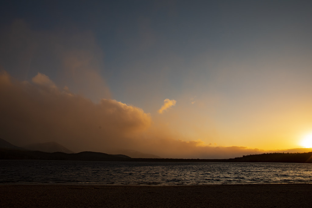 Changing weather across Loch Morlich