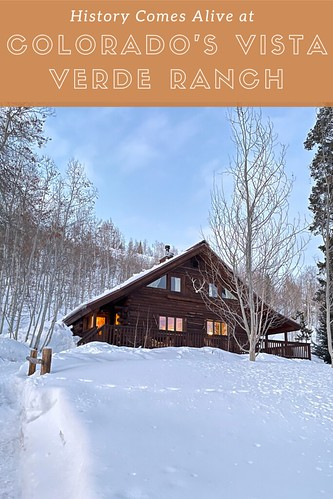Snow-covered landscape with Zirkel cabin. From History Comes Alive at Colorado's Vista Verde Ranch