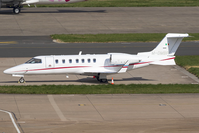 Private Learjet 40 M-DMBP at Birmingham Airport BHX/EGBB