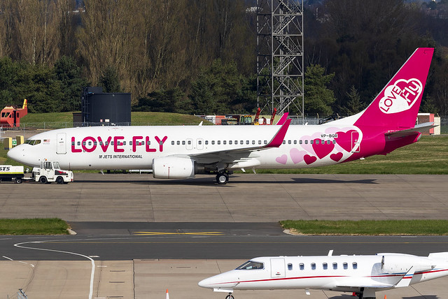 Love Fly (M Jets International) 737-800 VP-BQR at Birmingham Airport BHX/EGBB