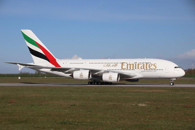 A380 Emirates A6-EVO