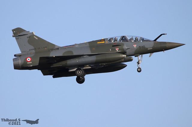 Dassault Mirage 2000D ARMEE DE L'AIR 3-IO 647 Nancy mars 2020