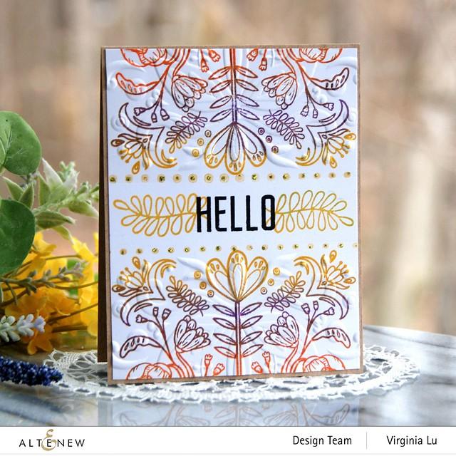 04202021-Folk Art Stamp & Die Bundle-Folk Art Motif 3D Embossing Folder
