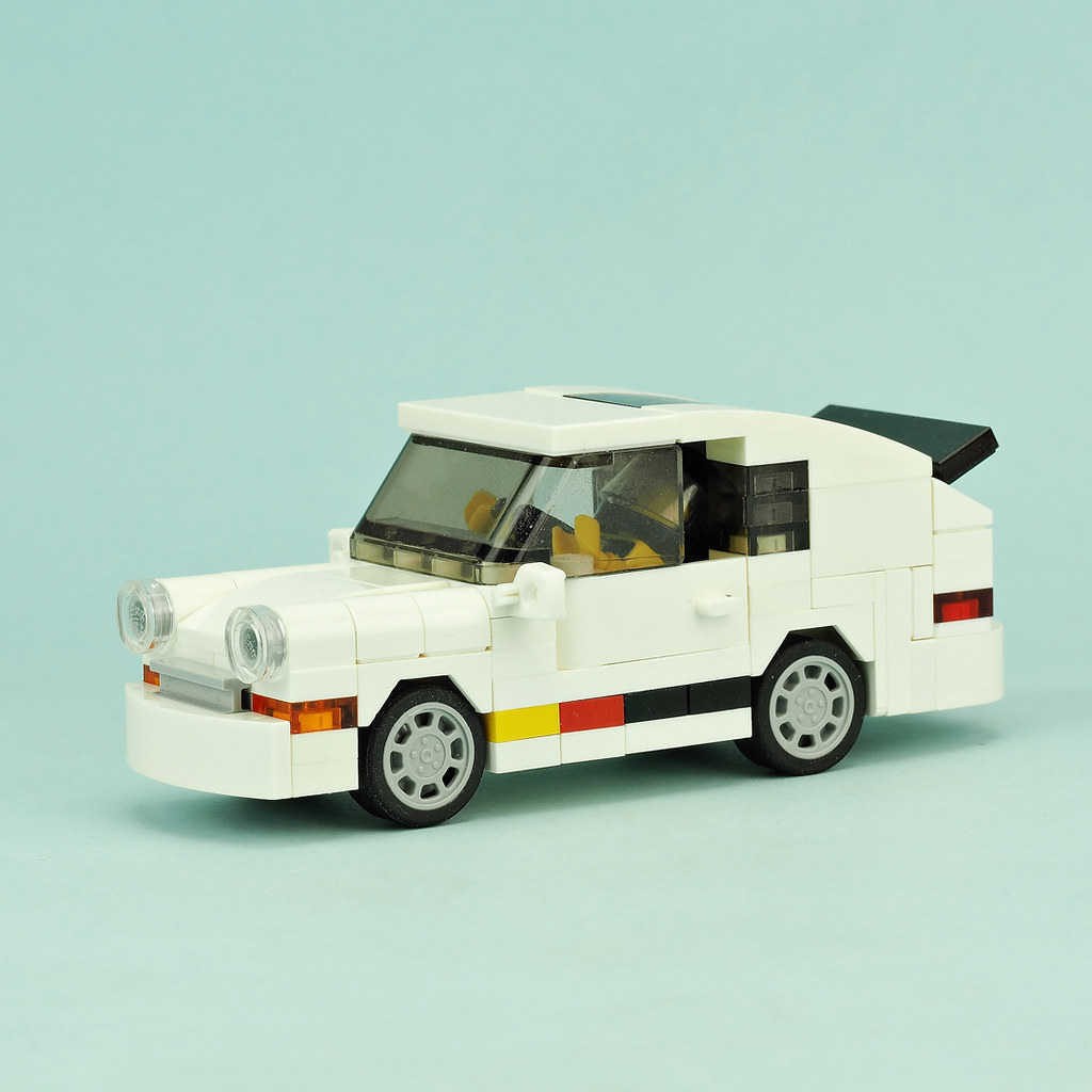White Porsche Race Car