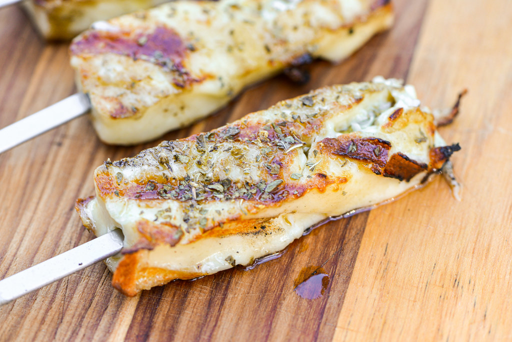 Grilled Queijo Coalho (Brazilian Cheese Skewers)