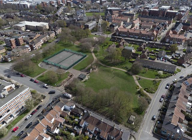 Norwich aerial image: Jenny Lind Park
