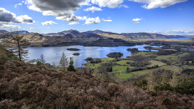 Derwent Water from Walla Crag this afternoon
