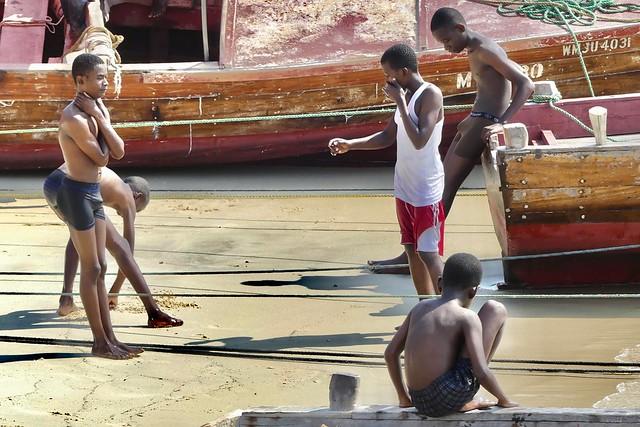 Beach boys, Stone Town Zanzibar, Tanzania