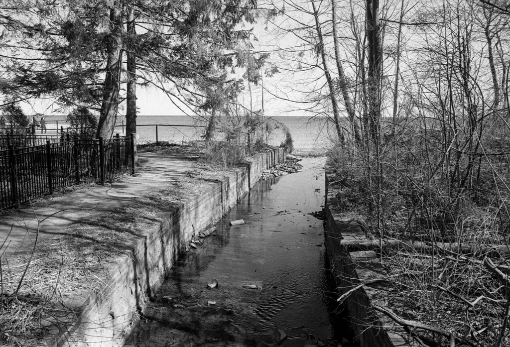 Wedgewood Creek Trench Looking South to the Lake_