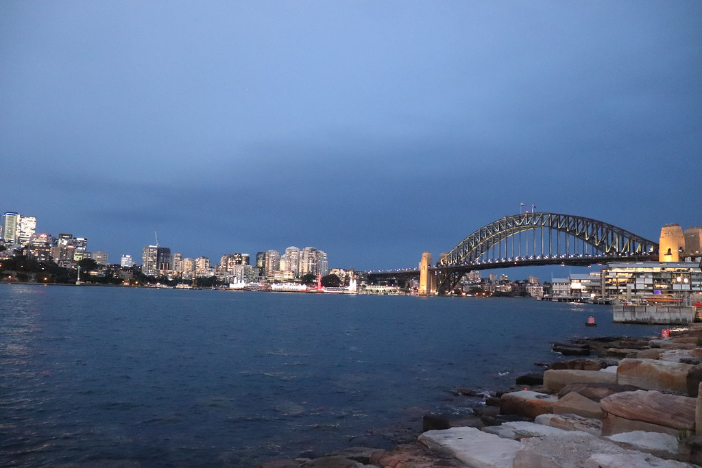 Sydney Harbour during Twilight viewed from Barangaroo Reserve