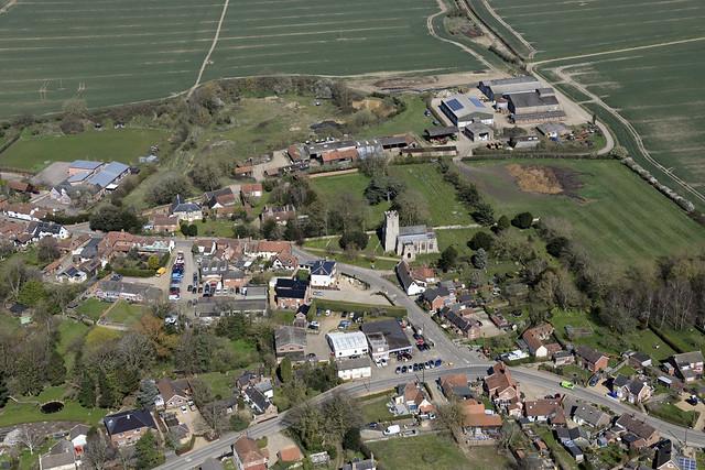 Hempnall aerial image: St Margaret's Church