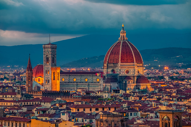 Florence at blue hour