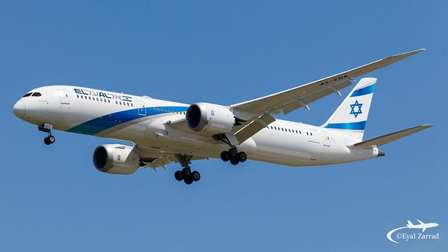 TLV - El Al Boeing 787-9 4X-EDA