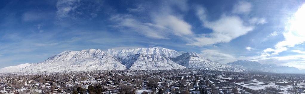 Snowy Mount Timpanogos from Pleasant Grove, Utah [Explore 13 April 2021]
