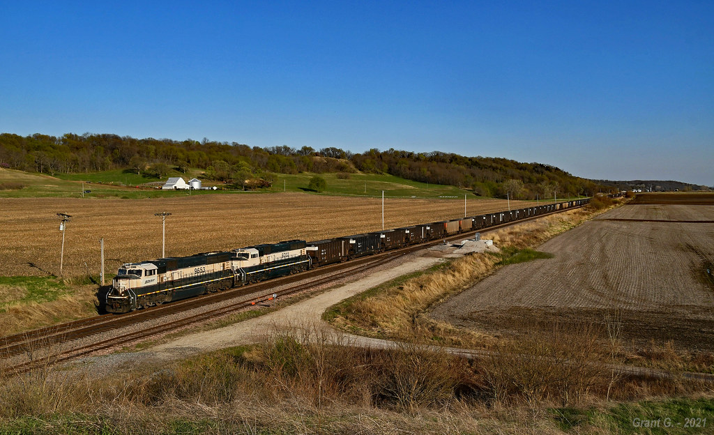 Westbound Empty Coal Train in Forest City, MO