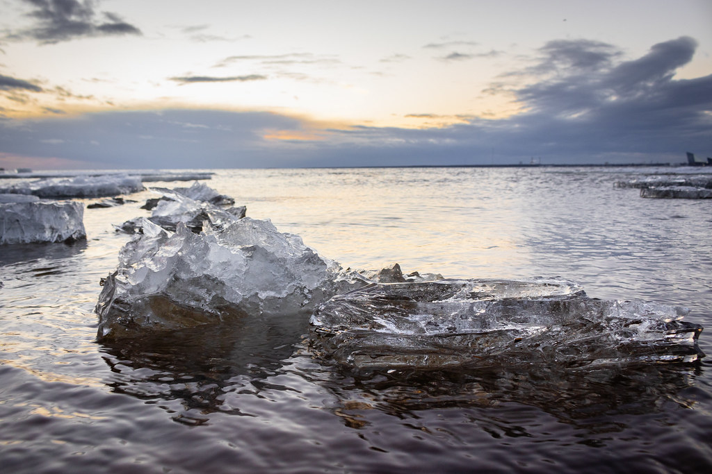 Last spring ice floes