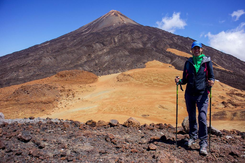 Vista del Teide desde el cráter de Pico Viejo