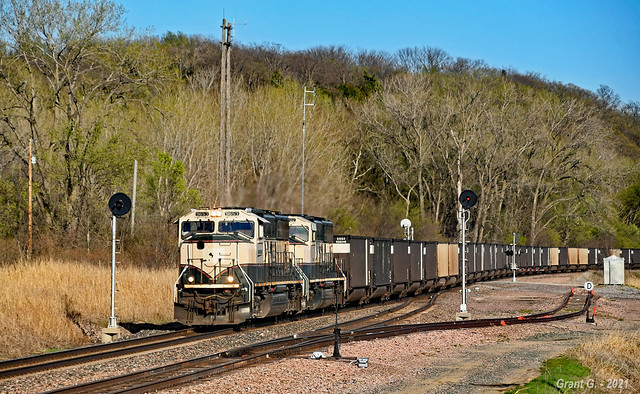 Westbound Empty Coal Train in Nodaway, MO
