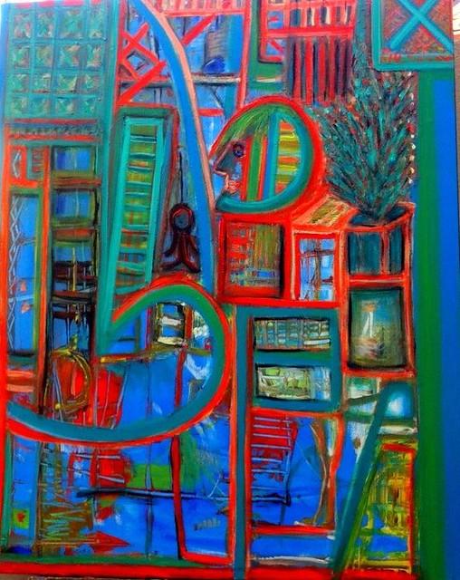 היוצרות הישראליות שרה זלוטי ציירת מופשטים עכשווית יוצרת אבסטרקטית מודרנית ציור מופשט אמנית אבסטרקט